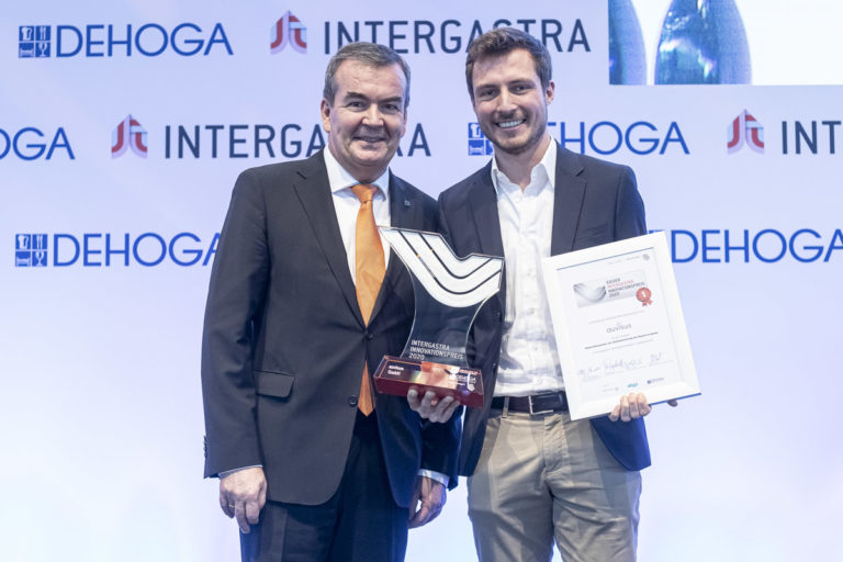 Preisübergabe des Intergastra Innovationspreises an auvisus
