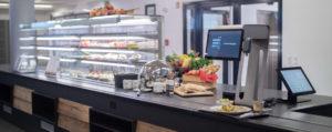 Der visioncheckout im Betriebsrestaurant der PTV AG